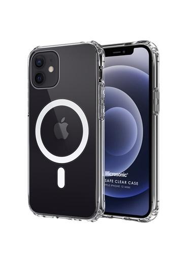 Microsonic Apple iPhone 12 Mini Kılıf MagSafe Clear Soft Şeffaf Renksiz